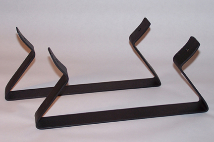 leg brackets for the gas forge body